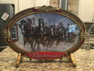 $ CDN63.57 • Buy Anheuser Busch Budweiser Clydesdale Horse Team Bubble Sign Wall Display / Stand