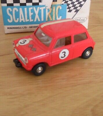 Vintage 1960 Scalextric Mini Cooper Red - Boxed • 47.50£