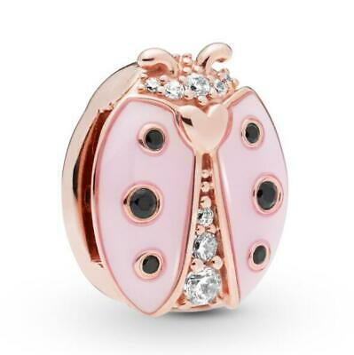Reflexions Pink Ladybird Clip Charm Silver Sterling S925 Fit Bracelets Love Bead • 9.95£