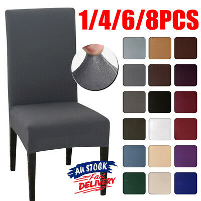 AU3.69 • Buy 1/4/6/8Pcs Dining Chair Cover Stretch Removable Slipcover Washable Banquet Party