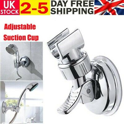 Adjustable Bracket Suction Shower Head Handset Holder Bathroom Wall Mount UK • 4.99£