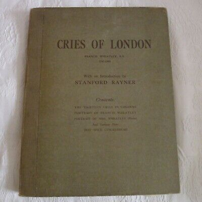 Cries Of London Antique Book Prints Francis Wheatley 1929 • 55£