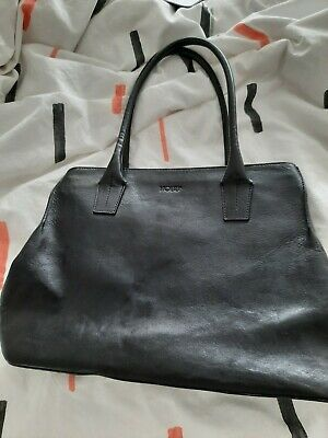 Hobbs Of London Black L Leather Shoulder Bag Smart Office Business • 30£