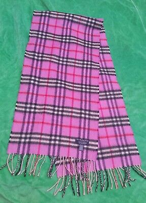 BURBERRY Cashmere Pink Scarf • 75£