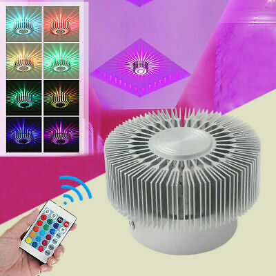 £11.80 • Buy RGB LED Wall Ceiling Fixture Lamp Spot Down Light Remote Control Color Changing
