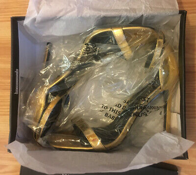 £11.99 • Buy Missguided Womens Shoes Gold Metallic Barely There Heeled Sandals UK Size 8 BNIB