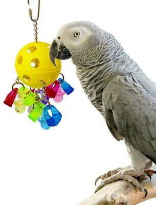 Paci-Pull Bird Toy Parrot Toys Cage Bell Chew Hanging Swing Large Medium Small  • 14.99£