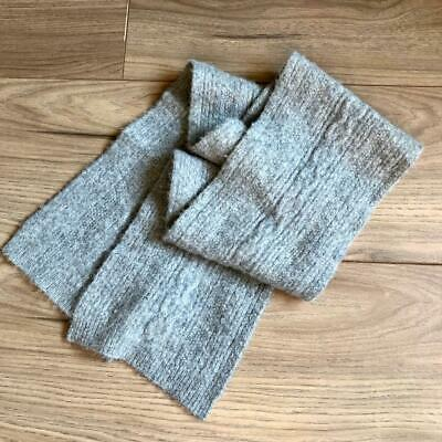 £8.50 • Buy Merona Grey Cable Knit 100% Cashmere Scarf