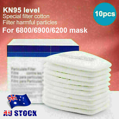 AU25.68 • Buy 10Pcs 5N11 Particulate Filter Respirator Cotton For Gas Mask 6200/6800/7502 AU