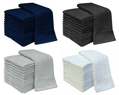 100Pack Combed Egyptian Cotton Super Soft Flannels Wash Face Cloth Towel 30x30cm • 9.90£
