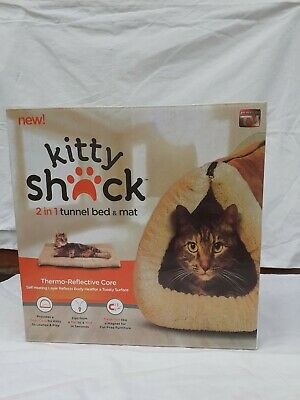 2 In 1 Kitty Shack Self Heating Cat/Kitty Portable Hot Bed And Mat Tunnel Bed • 9.10£