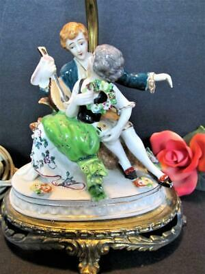 $ CDN100.92 • Buy Vintage French Style Figurine Table Lamp Porcelain Courting Couple Kt7019