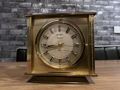 Vintage Metamec Quartz Mantle Carriage Clock Fully Working • 10.51£