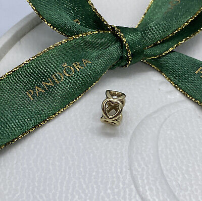 AU173 • Buy Pandora 585 ALE14ct Gold Open Heart Spacer #750454 Retired Authentic