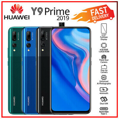 AU324 • Buy  Huawei Y9 Prime 2019 Black Blue Green 4GB+128GB Android Mobile Phone (Unlocked)