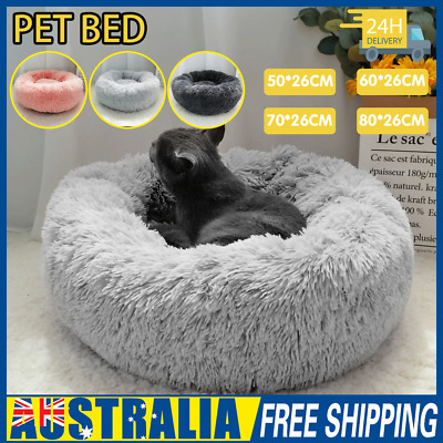 AU31.99 • Buy Pet Dog Cat Calming Bed Warm Soft Plush Round Nest Comfy Sleeping Kennel Cave AU