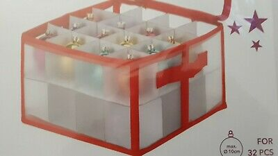 Christmas Storage Box Decoration Organiser Tree Ornaments Balls Baubles Bauble • 12.99£