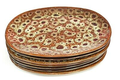 Vintage Brown Oval Dinner Plates Marked Kp ##wolcl65 • 9.99£