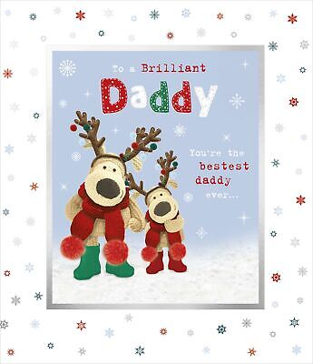 Boofle To A Brilliant Daddy Christmas Greeting Card Cute Xmas Cards • 4.29£