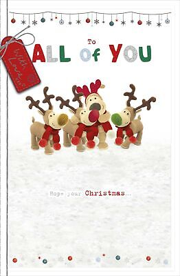 Boofle To All Of You Embellished Christmas Greeting Card Cute Xmas Cards • 5.99£