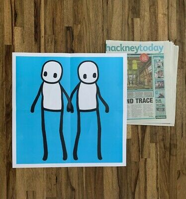 STIK Limited Edition Poster, In Hackney Today Newspaper 2020 • 108£