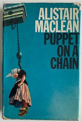 ALISTAIR MACLEAN PUPPET ON A CHAIN 1st EDITION UK COLLINS 1969 HARDBACK BOOK • 6£