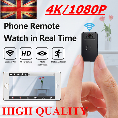 View Details UK 4K Wireless WiFi CCTV Indoor/Outdoor HD MINI IP Camera CAM Home Security IR • 30.99£