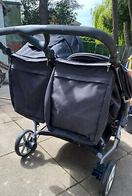 Britax B Agile Double In Black, Includes 2 Brand New Footmuffs And Rain Cover • 140£