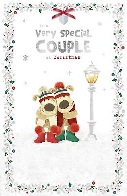 Boofle Special Couple At Christmas Greeting Card Embellished Xmas Cards • 6.99£