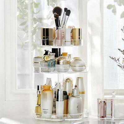 £11.99 • Buy 360°Rotating Makeup Organiser Storage Cosmetic Holder Display Stand Box Clear