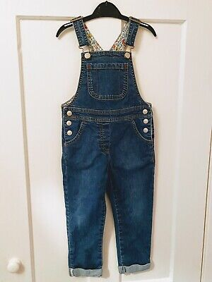 Mini Boden Girls Denim Dungarees, Age 3-4 Years, Excellent Condition • 9.50£