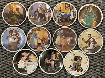 $ CDN44.66 • Buy 11 Norman Rockwell Annual Mothers Day Fine China Plates Knowles 1981-1991
