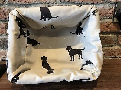 Wicker Lined Storage Basket , Labrador Upholstery Fabric For Lining • 11£