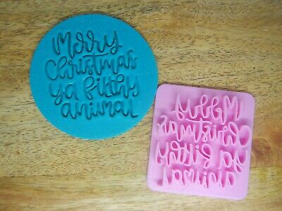 AU8.95 • Buy Merry Christmas Ya Filthy Animal Fondant Embosser Cookie Stamp Home Alone Party