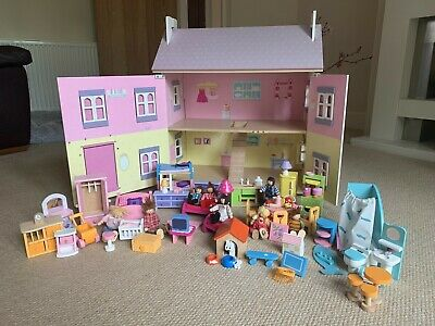 £50 • Buy Early Learning Centre Dolls House With Furniture And Figurines