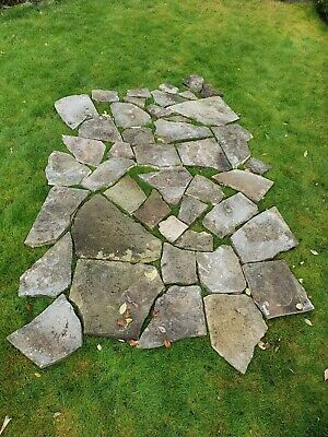 Top Quality,  Weathered, Crazy Paving Yorkstone. Approx 3.5 Square Meters. CHEAP • 40£