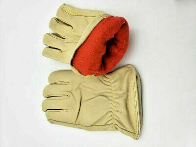 $18.99 • Buy 2 Pairs WORK FORCE  LEATHER WINTER FLEECE LINED Driver Work GLOVES