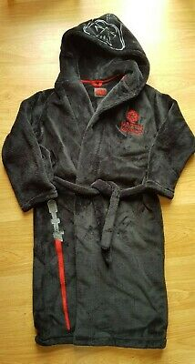 Darth Vader Kids Velour Dressing Gown. Good Used Condition. • 2£
