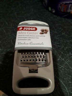 Judge Mini Small Stainless Steel Nutmeg Cheese Grater With Storage Tub Handle 6  • 2.30£