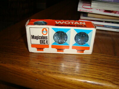 Wotan Oxc4 Camera Flashcubes 3 Off Old But Never Used Still In There Packaging • 2£