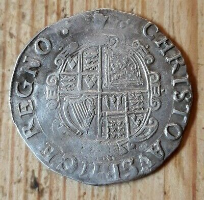 Charles I Hammered Silver Shilling- Full Flan - Crown Mint Mark • 69£
