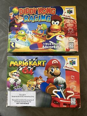 AU122.50 • Buy N64 Boxed Games Property Of Nintendo NOT FOR RESALE Mario Kart Diddy Kong RARE