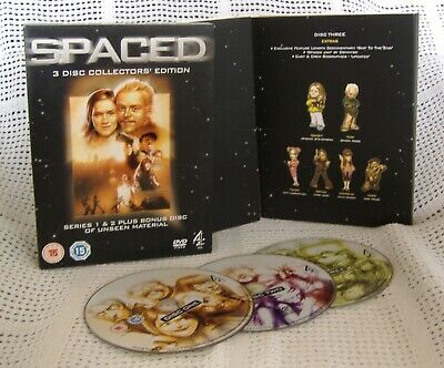 SPACED Collectors' Edition Simon Pegg, Jessica Hynes, Nick Frost 3DVD • 2.75£