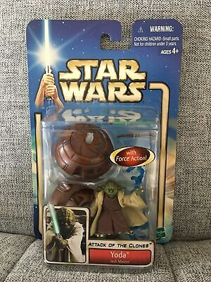 AU10.50 • Buy YODA JEDI MASTER #23 Star Wars Attack Clones 84615 2002 Action Figure Toys NEW