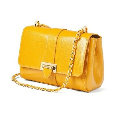 Aspinal Of London Lottie Leather Bag Bright Mustard Lizard BNIB RRP £495 • 219.99£