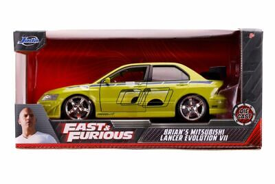 AU39.99 • Buy Fast & Furious - Brian's 2002 Mitsubishi Lancer Evolution VII 1:24 Scale Holl...