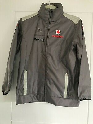 Official Vodafone Mercedes McLaren Children's Rain Jacket L -New Without Tags • 2£
