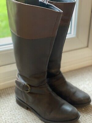 Wide Calf Pavers Boots Brown Size38 (5) • 1.99£