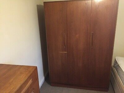 Large G Plan Wardrobe, Fresco, Triple, Folding Door, Teak, Retro, Vintage • 14.70£