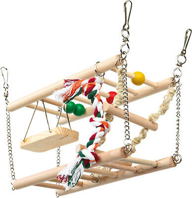 Trixie Small Animal 2 Storey Suspension Bridge Cage Toy Hamsters Mice Fun Toys • 12.97£